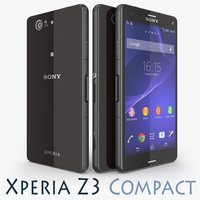 3d sony xperia z3 compact model