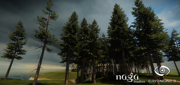 3ds max set spruce trees