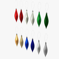 tear shaped ornament 3d 3ds