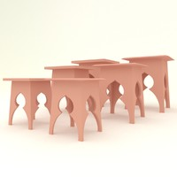 modern moroccan table 1 3d max