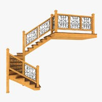 obj stairs forged railing