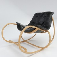 3d model of wave chair lounge
