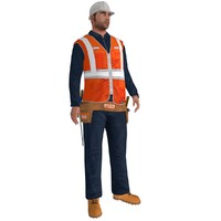 max rigged worker biped man