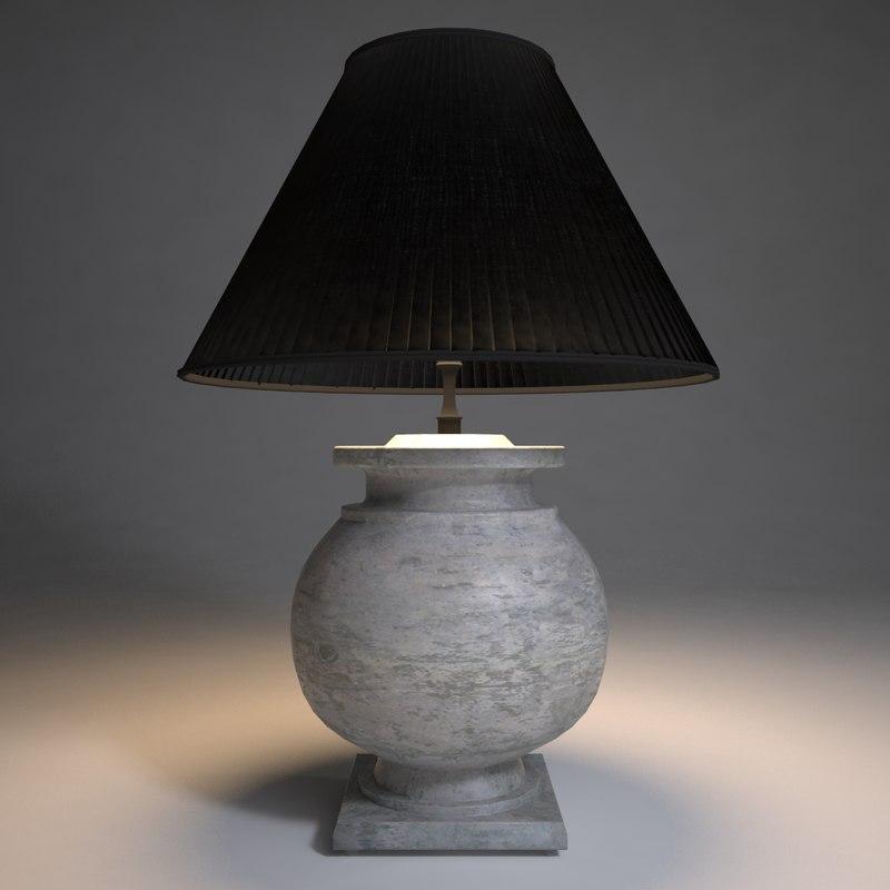 eichholtz avon table lamp 3d model