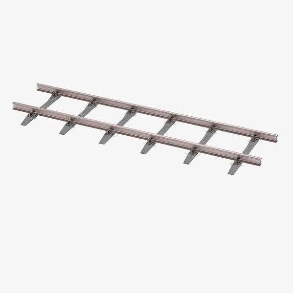 railway line 3d model