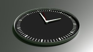 clock blender 3d obj