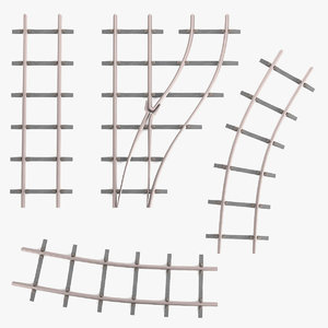 railway lines set 3ds