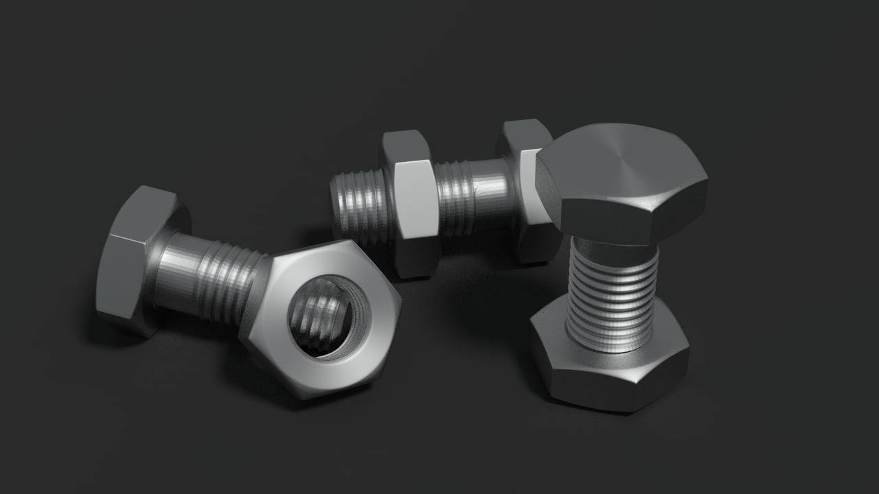 3d model screw blender