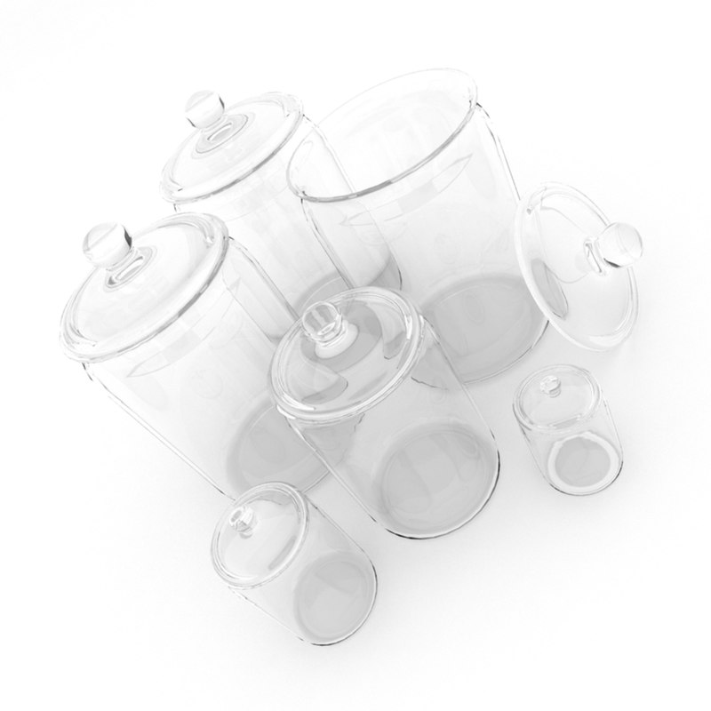 glass jars 1 3d model