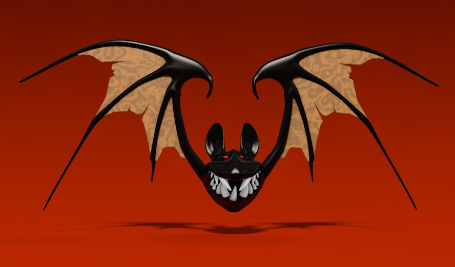 3d model halloween bat