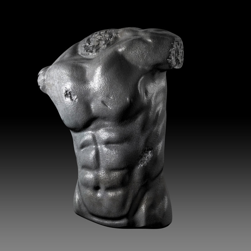 3dsmax sculpture upper body anatomy