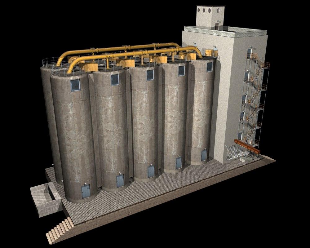 3d model of silo