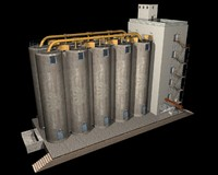 3d model of silo