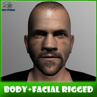 3d - body facial rigged