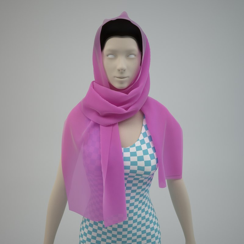 3d model scarf -