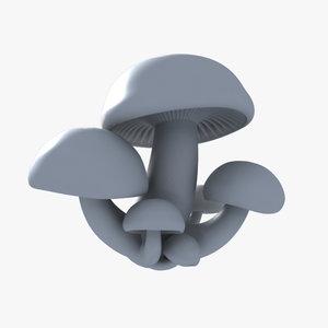 mushroom elm leech 3d model