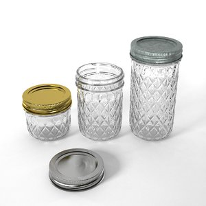 3d model of jar canning quilted
