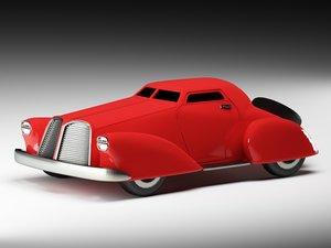 3d model retro car