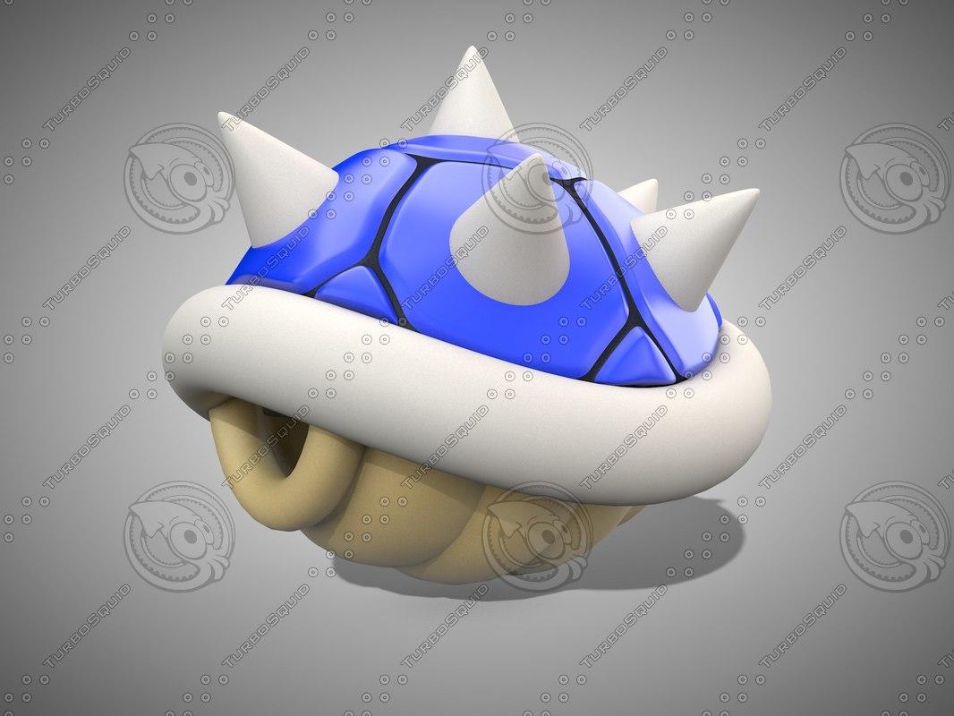 blue shell 3d model