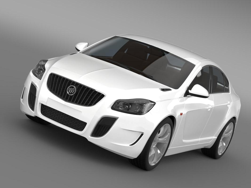3d model buick regal gs concept
