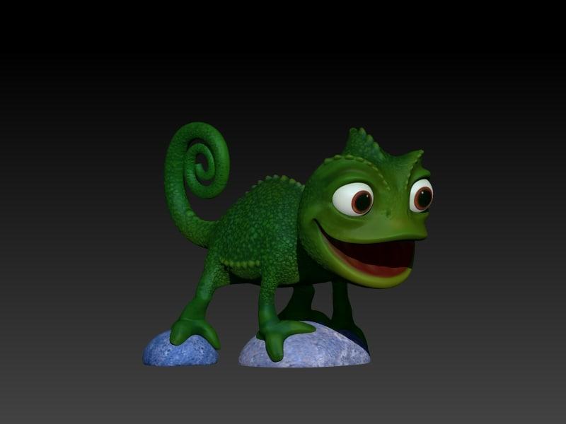 chameleon printable 3d model