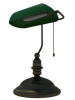 3d model old desk lamp