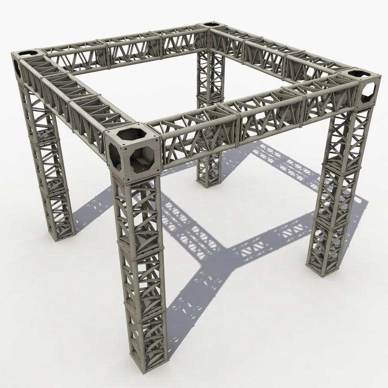 modeled truss 3d model