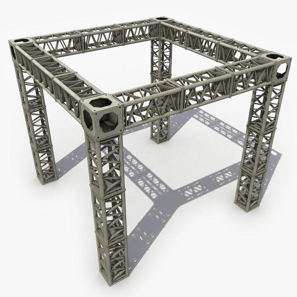 modeled truss 3d model