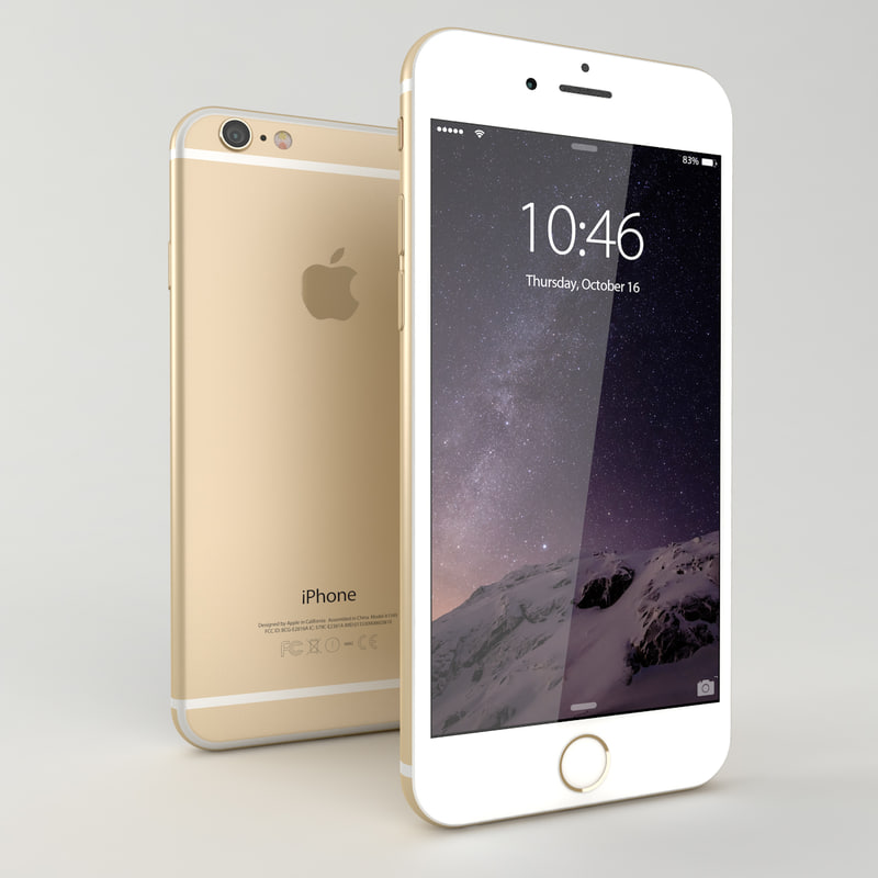 iphone 6 gold mobile phone 3d model