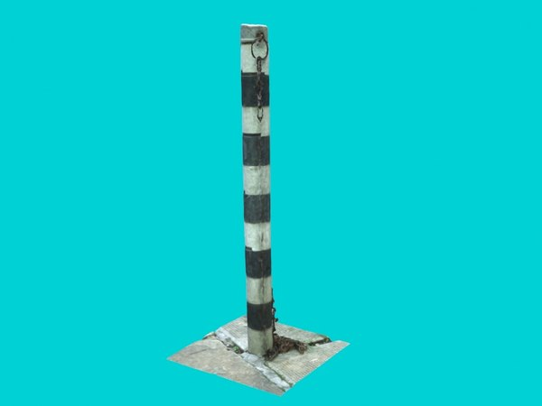 3d realistic street pole
