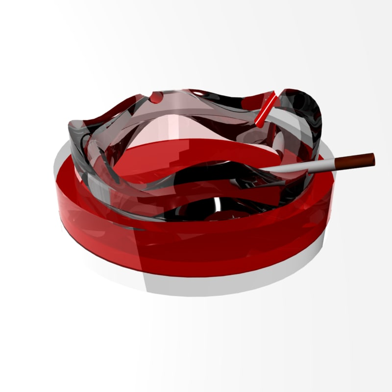 smoking ashtray 3d max