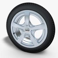 wheel rim 3d obj