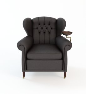 3dsmax 1919 wingchair plate -