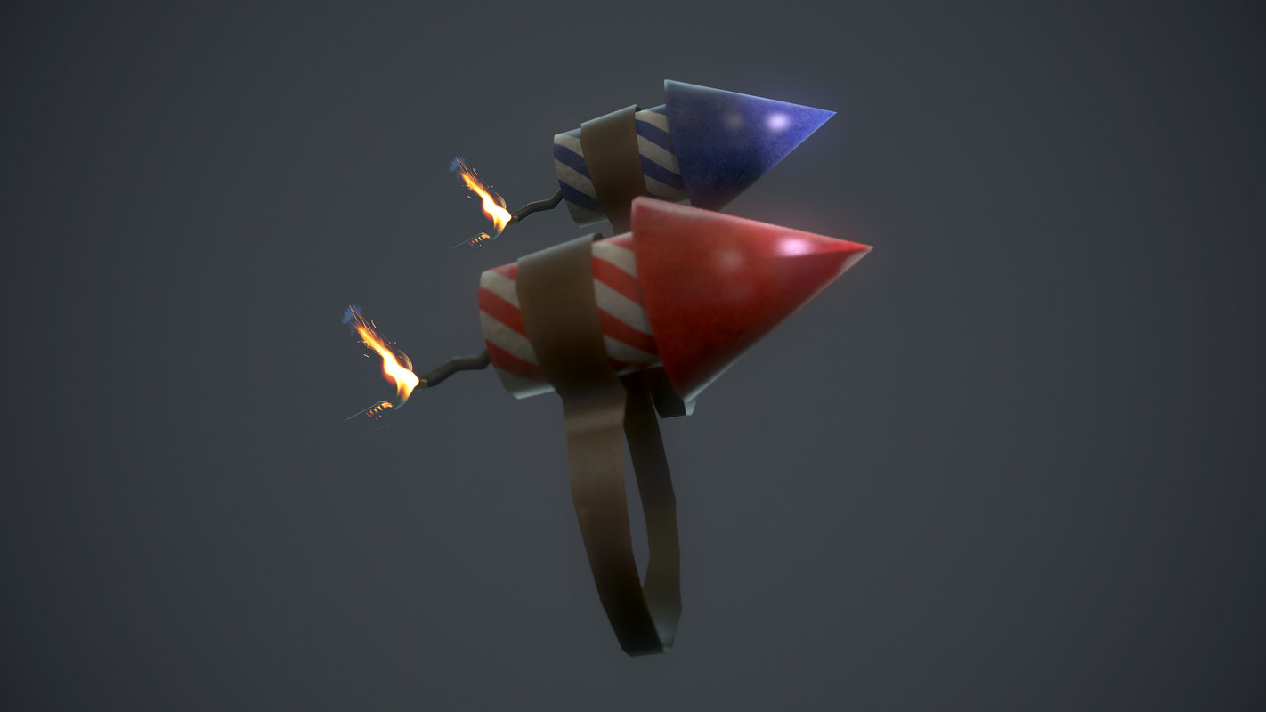 firecracker add-on mouse 3d model