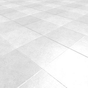 white tile 3d obj