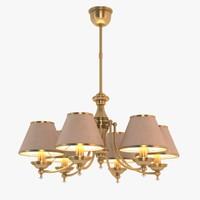 brass kutek chandelier 3d obj