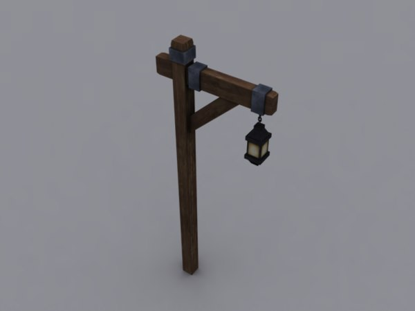 3d ready old lamp stand