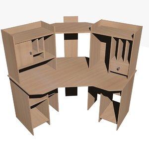 3d model ikea computer table