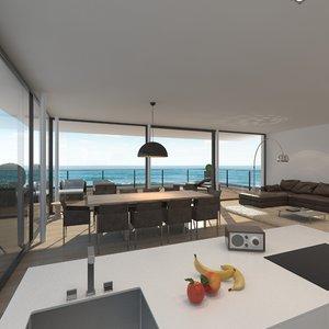 livingroom realistic 3d max