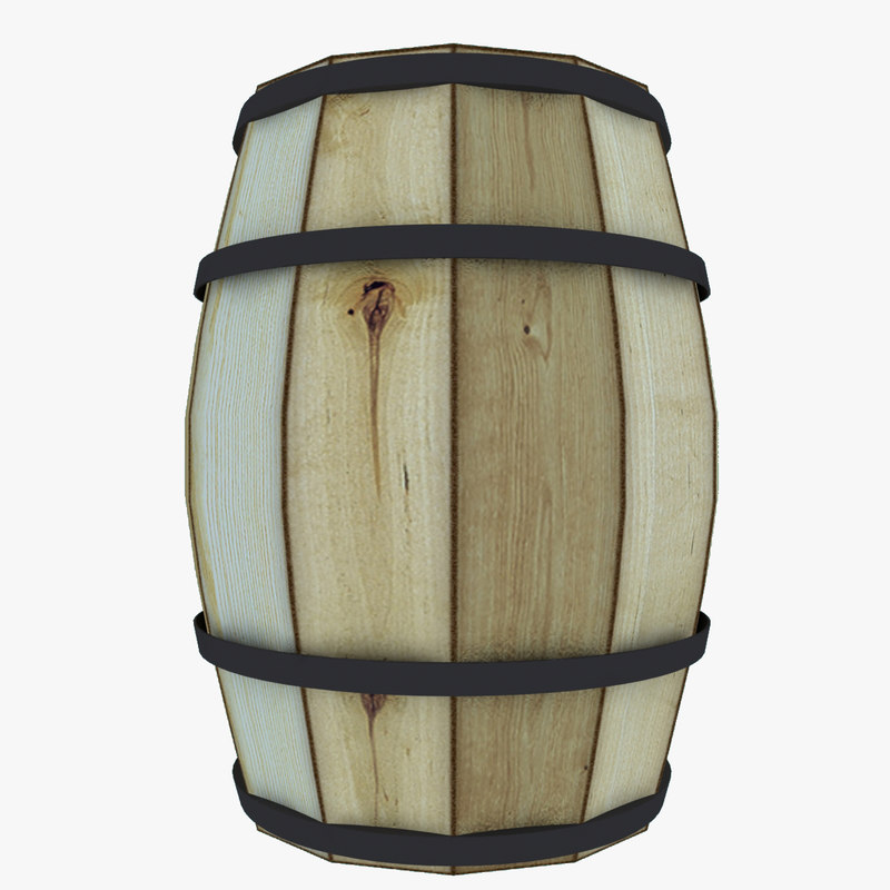 wooden barrel lods 3d model