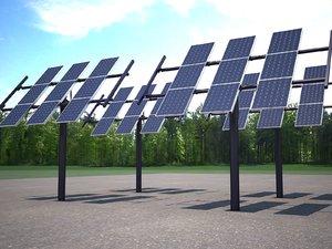 maya solar panel traking
