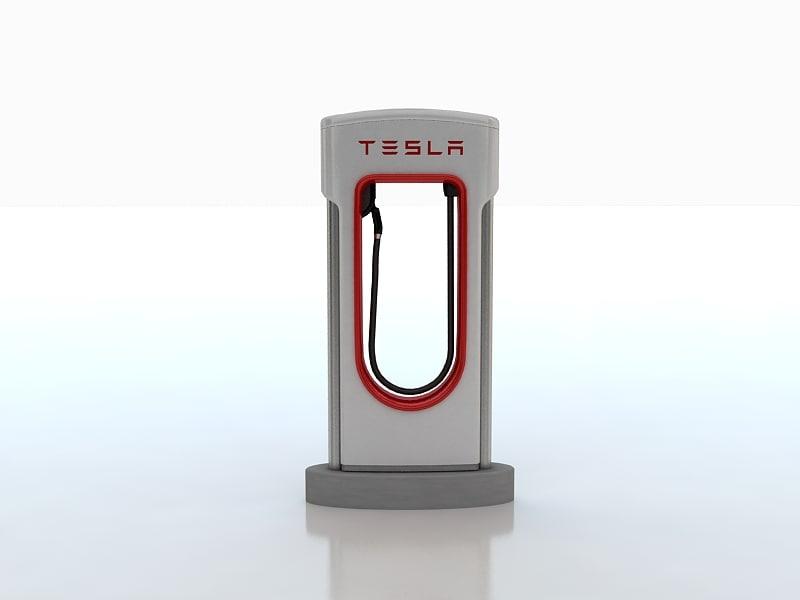 tesla superchargers 3d max