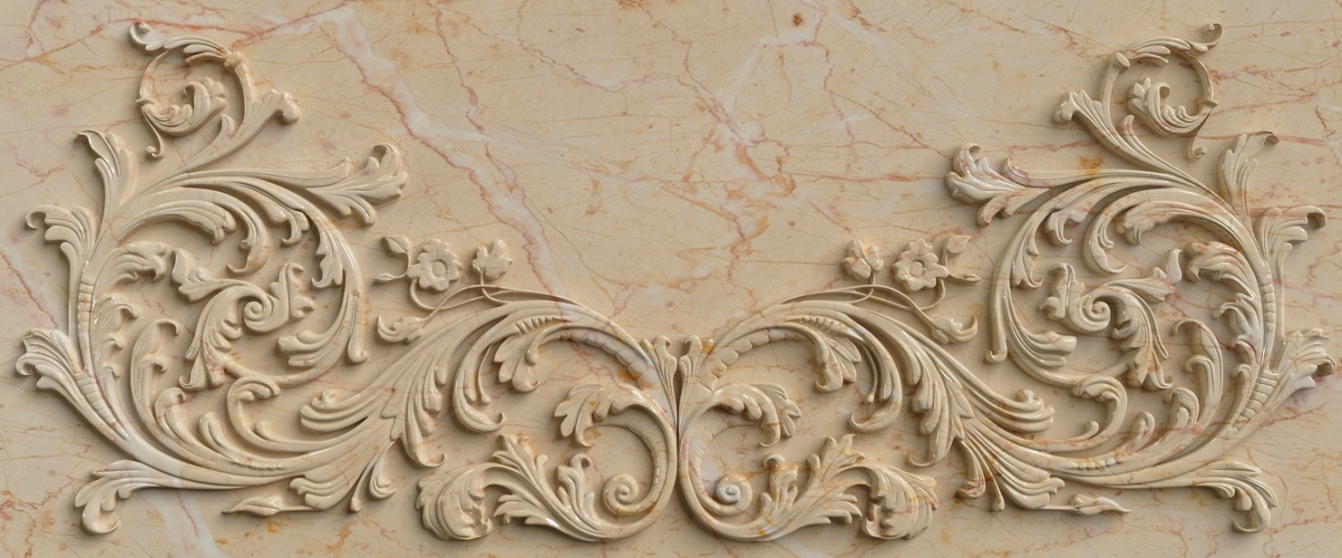 3d classic wall stucco