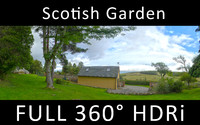 Garden 360 degree full HDRi