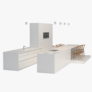 bulthaup kitchen 3d max