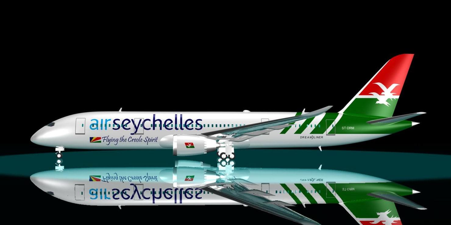 3d model air seychells 787-8 dreamliner