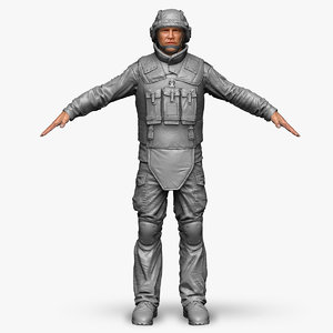 3ds max qualitative zbrush soldier bundeswehr