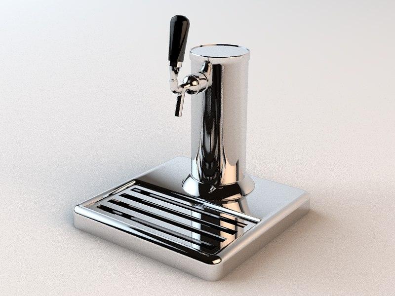 beer tap 3d c4d