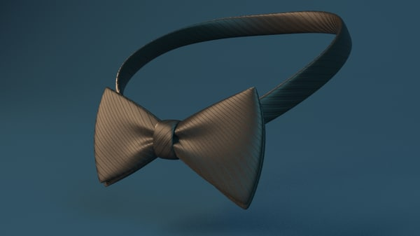 bowtie flexible rig 3d model