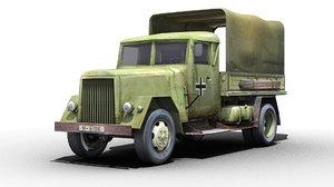 german wwii henschel truck 3d max